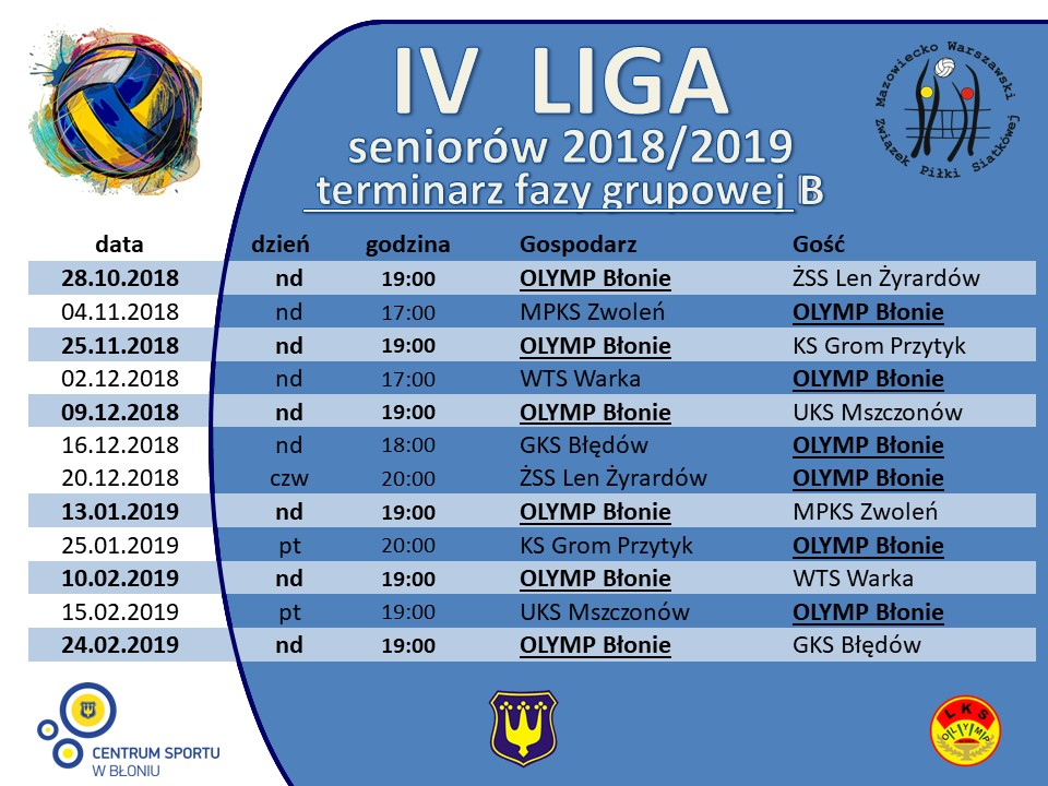 Liga IV_2018_2019_terminarz_grupa B