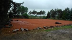 Pierwszy dzień remontu i budowy hali tenisowej!