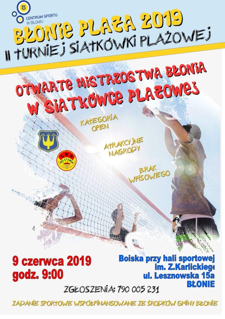 2 PLAKAT BŁONIE PLAŻA 2019 - II turniej